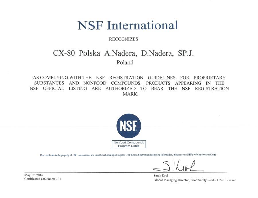 NSF-INTERNATIONAL-ZERTIFIZIERUNG